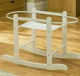 Kinder valley little gem Rocking moses basket stand. White. Brand new in box. 5 left in stock only.