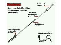 6ft 1inch diametre barbell with 2 10kg plates