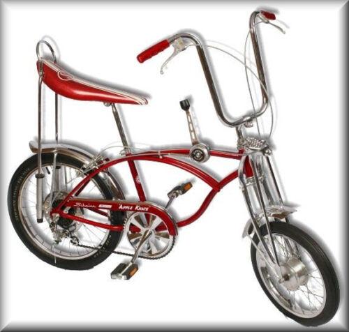 Vintage 60s Schwinn APPLE KRATE Bicycle, FLAT Refrigerator Magnet, READ LISTING!