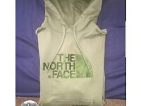 North face khaki hoodie 10/10 condition size small