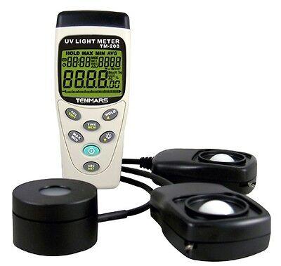 Uva Solar Power Light Lux 3in1 Meter Tester Usb Datalogger 45000 Tm-208