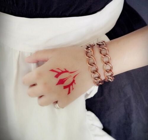 5pcs fate stay night cosplay logo sign temporary for Bath after tattoo