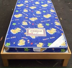 Single mattress and timber wooden bed frame Marrickville Marrickville Area Preview