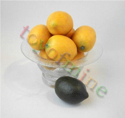Lemon*5pcs   Home Decor Faux Lemons  Artificial Fruit Fake Theater Prop Staging