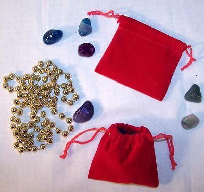 12 Sm Red Velvet Jewelry Storage Bags Jewelry Stone Bag