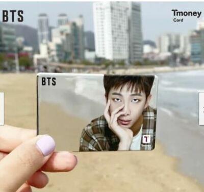 [ BTS ] X 2021  CU OFFICIAL MIRROR T-MONEY CARD RM PHOTO / K-POP