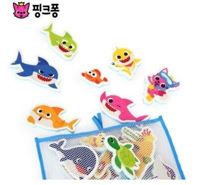 Pinkfong Shark Family Bath Play Soft Sticker 23pcs 1cm EVA For Baby Kids