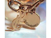 Yves Saint Laurent gold chain necklace