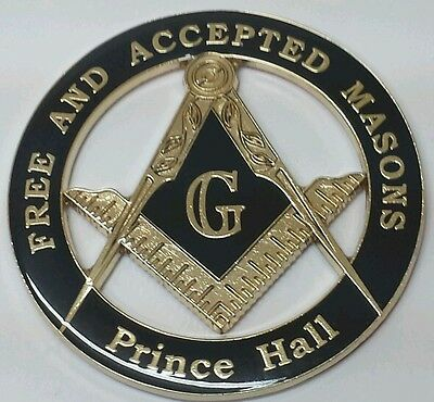 Prince Hall Affiliated Masonic Car Emblem in Black
