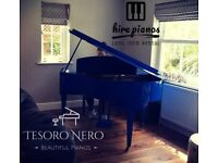 SELF PLAYING - BRAND NEW DARK BLUE SG148 STEINHOVEN BABY GRAND PIANO - COLOUR CHANGE SERVICE