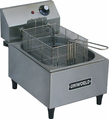 New 1 Basket Counter Top Electric Deep Fat Fryer Uniworld Uf-1b 3873-ob