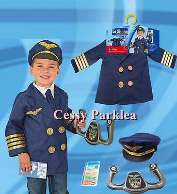 M4-4 Aviator Pilot Uniform Kids Boys Child Halloween Fancy Dress Up Costume 3-7 - Costumes 4 U