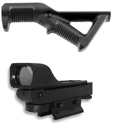 Tippmann CRONUS Tactical Paintball Gun Angled Foregrip Grip & DP Red Dot Sight