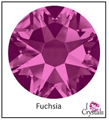 (FUCHSIA Pink Swarovski 34ss 7mm Crystal 2088 Flatback Rhinestones 12 pieces)