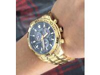 Men's citizen eco drive chronograph gold