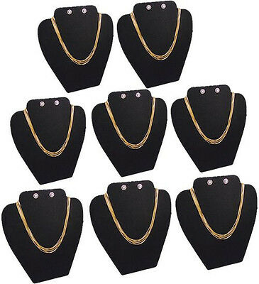 8pc Set 8h Necklace Earring Pendant Earring Black Jewelry Display Case Pj14b8