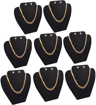 8pc Set 8h Necklace Earring Pendant Earring Black Jewelry Display Case Pj14b8