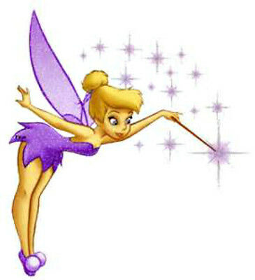20  WATER SLIDE NAIL  DECALS TRANSFERS PURPLE TINKERBELL FAIRY](Water Fairy Tinkerbell)