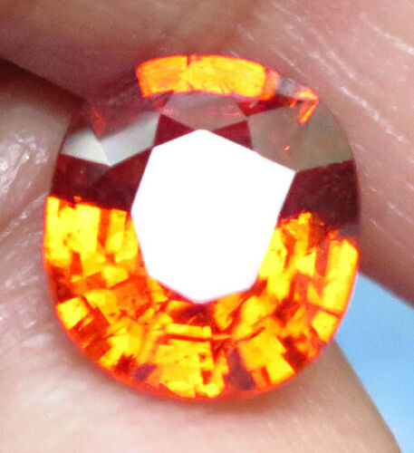 3.20ct. Cushion cut Orange Mandarin Spessartite Garnet VS