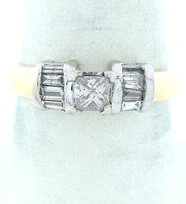 14K GOLD 1/2ct PRINCESS DIAMOND ENGAGEMENT WEDDING RING