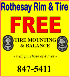 FREE MOUNTING AND BALANCING OF NEW TIRES