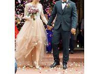 Wedding dress 2 piece stunning designers