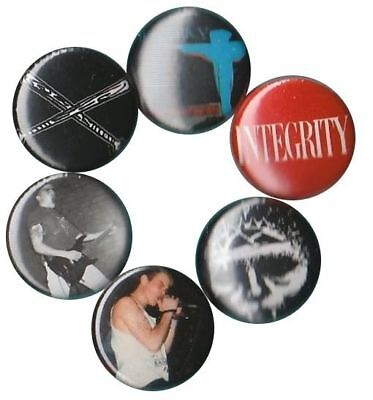 (Integrity: Set of 6 Buttons-Pins-Badges Clevo Hardcore cleveland palm sunday)