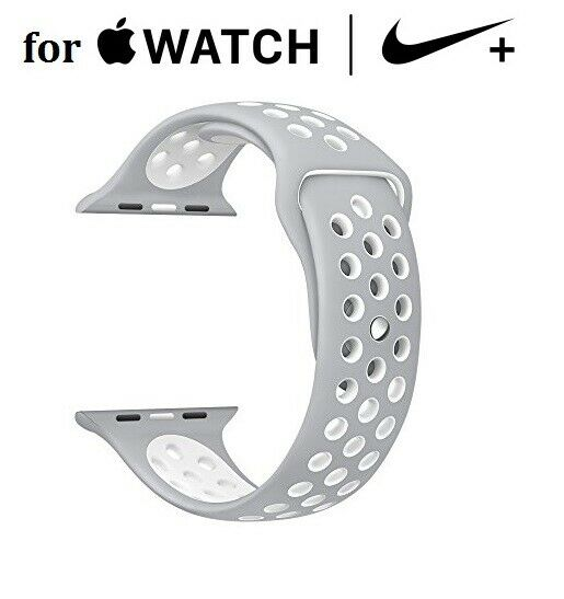 42mm Silver Sports Silicone Band for Apple Nike + Watch Series 1 2 3 4 Jewelry & Watches