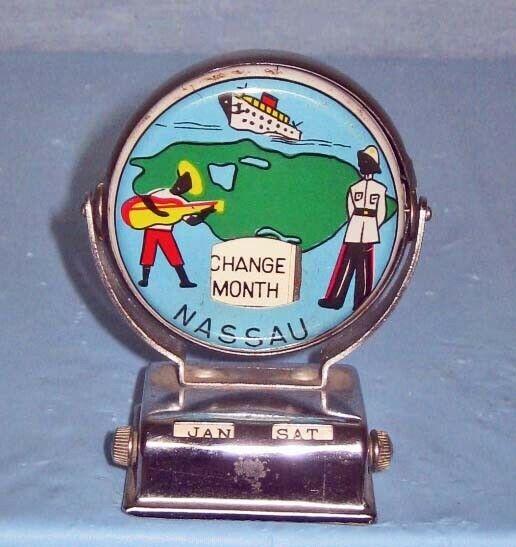 Vintage Nassau / Bahama Souvenir Calendar - Metal
