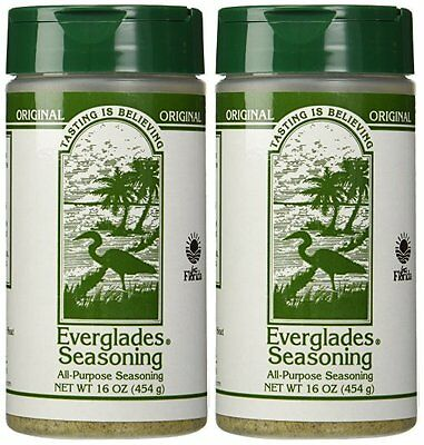 Everglades Seasoning 2-16 oz Original All Purpose 2 lb Chicken Pork Fish Deer