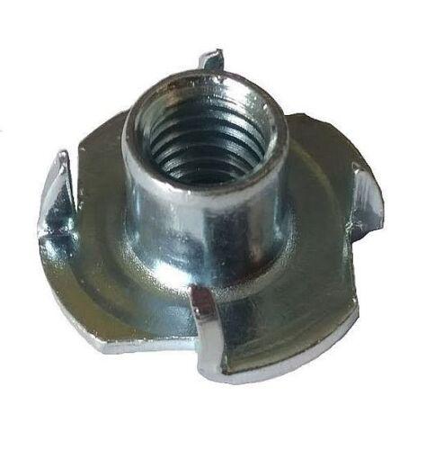 Pronged Tee Nuts T-Nuts M4 M5 M6 M8 M10 Steel Zinc Plated