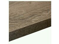 Dark wood look kitchen worktops