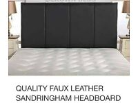 Leather headboard for double bed new