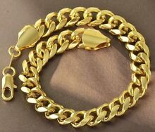 New 9k yellow gold filled men's bracelet Darch Wanneroo Area Preview
