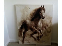 THE RANGE Hand Sketched Wild Horse Canvas Large print Artwork wall hanging 110cm x 90cm