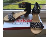 NEW Rieker antistress grey sandals size 6