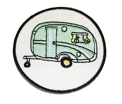 Vintage Caravan  Embroidered Iron Or Sew On Patch - 60mm -  P082