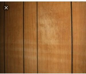 Wood panelling .  Old, retro 70s