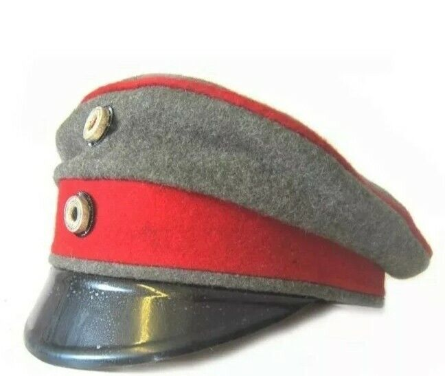 WW1 German imperial prussian crusher cap Replica all sizes available