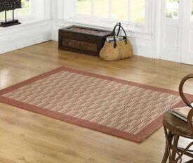 Rugs Florence Raffles Rug Terracotta / Rust 160 x 230cm Flat weave Brand new sealed packet WSM