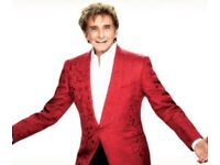 2 Barry Manilow tickets, London O2, 8th September 2018, Block 108