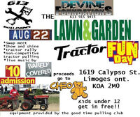 AUGUST 22ND LAWN AND GARDEN TRACTOR FUNDAY!
