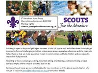 1st Ferndown Scouts -Spaces available on Monday nights