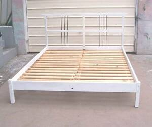 White Queen Size Pine  Bed Frame Inala Brisbane South West Preview
