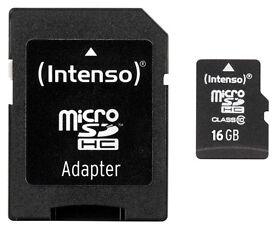 Intenso 16GB Micro SDHC Speicherkarte Class10 inkl. SDHC Card Adapter