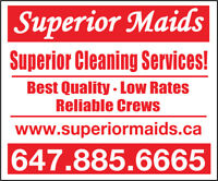 ONE HOUR OF FREE CLEANING INCLUDED, CALL SUPERIOR MAIDS!