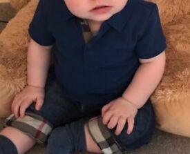 Baby boys designer jeans