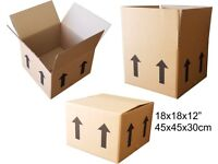 "NEW Medium Double Wall Cardboard boxes - 18x18x12"" / 457x457x304mm / 45x45x30cm"