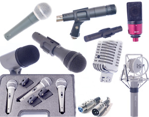 NEW professional vocal, drum, studio microphones & XLR cords!