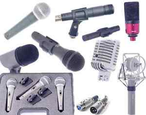 New professional microphones, XLR cords - for live or studio!